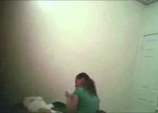 busty slut spied in bedroom