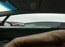 Carflash - Cutie takes a quick peek