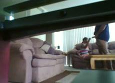 Hidden Cam Guy Is Back  - Wife's Friend Jacks Him Off