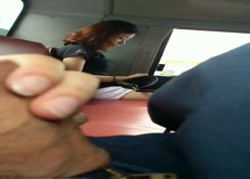 bus asian girl see