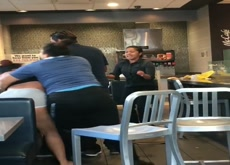 McDonald's Fight - Punches thrown, nips shown