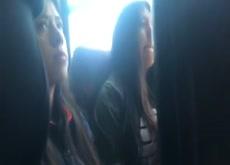 Bugle Flash Teens on Bus