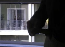 image Window spy neighbour cleaning lady voyeur
