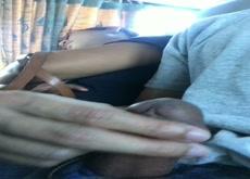 Dick Near Sleep girl In Bus