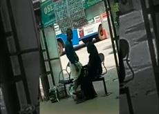 desi handjob in street