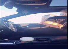 Selfie - Very Hot Blonde Car FAP