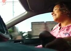 Hitchhiker Handjob & BJ Part. 1