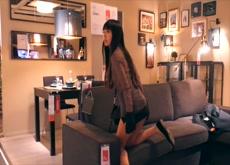 Asian Girl Flashing on Ikea