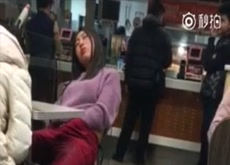 drunked girl caught masturbating