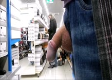 Dick Flash Milf Shopping For Shoes