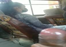 cum near teen girls on bus