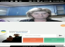 Omegle dickflash for hot milf as she has a drink