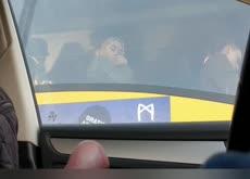 Car Flash Girl on Bus