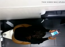 Big Booty Ebony caught pissing