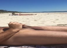 Flashing Teens at beach