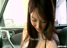 japanese  blowjob in car