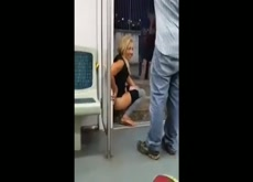 woman needs to piss ugently