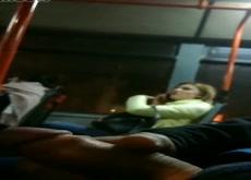 Flash Blonde on Bus