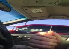 dickflash in car