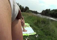 flashing at the river