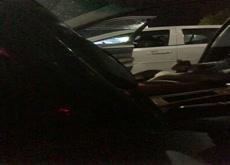 fully open car door to milf 2 feet from me