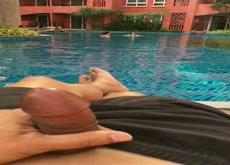 Holiday at pool