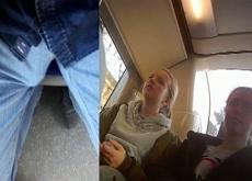 Bulge Flash Teens On Bus