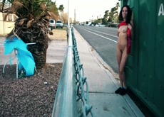 NaughtyNikki Risky public pussy play in the streets  pt.1