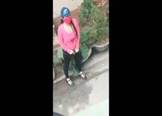 woman recording ladyboy flash
