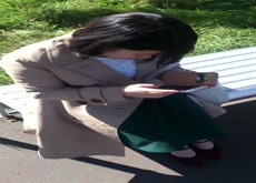 Outdoor Flash Mature Japanese Lady