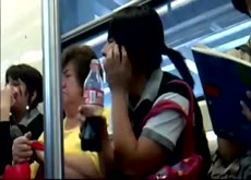 linda cole en el metro upskirt