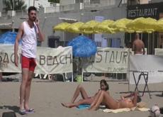 Dick flash girls at Beach 2019