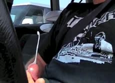 Cum for Lady in Car Parking Lot Dickflash