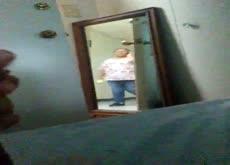 Mirror Flash Asian in Dorm