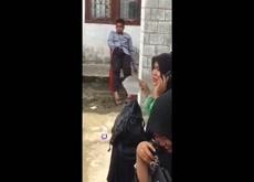 hijab girls laughs at wanker
