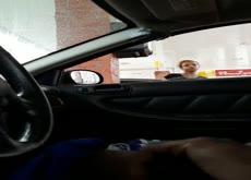 Car Flash Black Girl At Gas Station