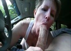 50 Years Old Sucking a Big Dick in the Car