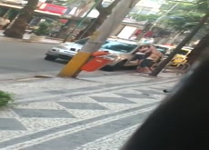 coule fucking in a public street