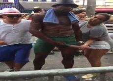 Milf Grabs Huge BBC At Street Festival