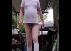 outside walking dick flo