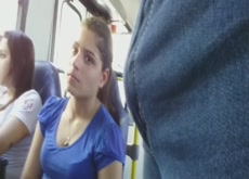 Bulge Flash Teen on Bus