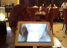 Watching porn at restaurant