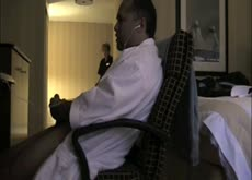 Caught Masturbating by Hotel Maid Dickflash