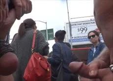 Dickflash for Asian Girls at Street Festival