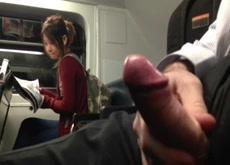 Very Daring Public Cum On The Train