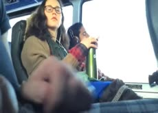 Bus Dickflash for Nerdy Girl