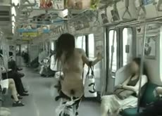 Sexy Japanese Girl Naked on Subway
