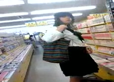 Cum on Japanese Girl in Book Store