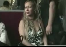 Boob groping in train