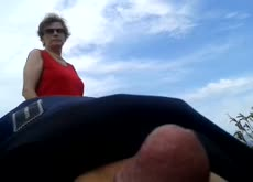 Dickflash for Old Lady at Park